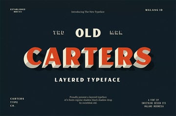 Carter Layered Font Display