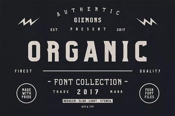 Organic Family Display Typeface