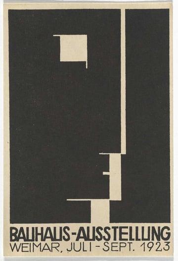 Herbert Bayer poster design for the Bauhaus School