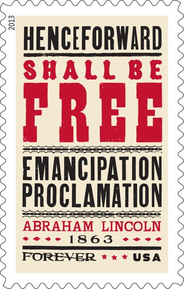 Gail Anderson 150th Anniversary of the signing of the Emancipation Proclamation stamp