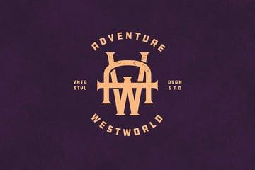 AW Vintage Monogram Logo