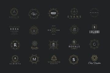 20 Monogram  Crest Logos