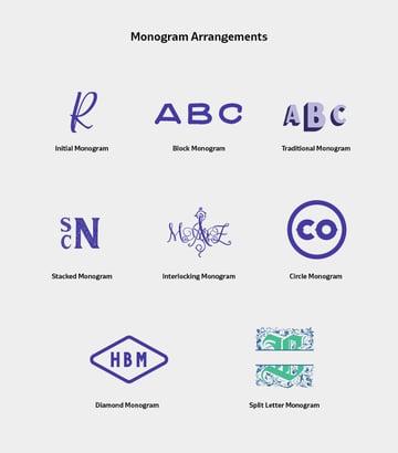 Monogram Arrangements and Styles