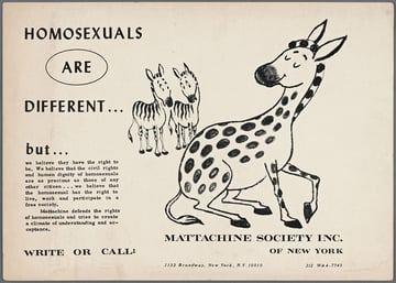 Mattachine Society Homosexuals are Different From The New York Public Library