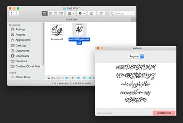 How to install SVG fonts