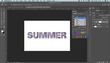 SVG color font add an adjustment layer and change the huesaturation