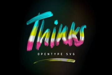 Thinks OpenType SVG Font
