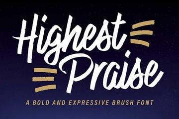 Futura font pairing Highest Praise