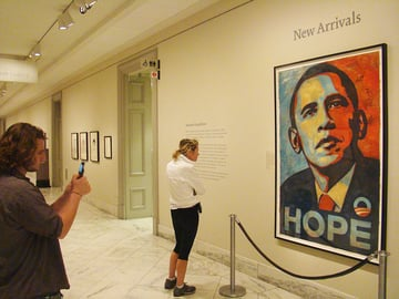 Shepard Faireys ObamaHope portrait