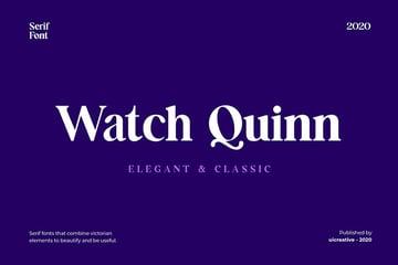 Watch Quinn, magazine letter font