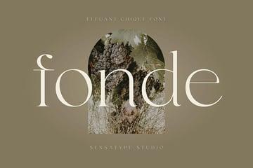 Fonde, magazine letter font
