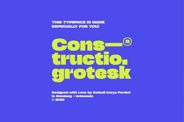 Constructio Grotesk, magazine letter font