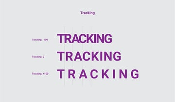 Tracking typography
