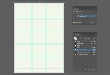 Create a rectangle on the background layer of your fundraiser flyer template