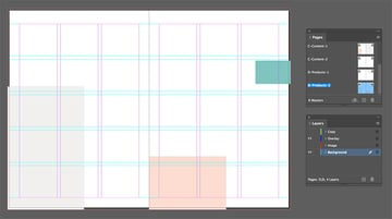 Create rectangles for the background of the spread