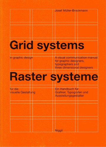 """Cover of the book """"Grid systems – Raster systeme"""", by Josef-Müller-Brockmann, published by Niggli in 1981"""