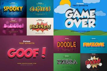 3D Cartoon Text Effects