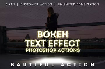 Bokeh Text Effect Photoshop Actions