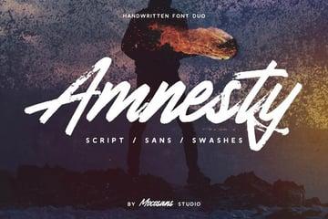 Amnesty - Handwritten Font Duo