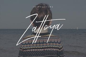 Zattoya Signature Typeface