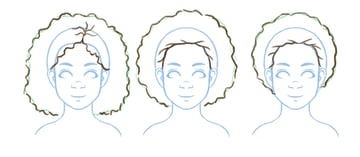 Refinements added to afro drawings