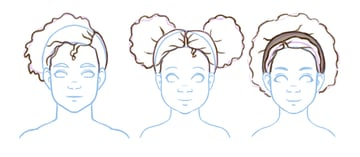 Refined afro drawings
