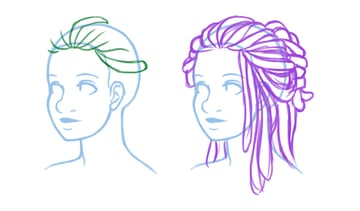 Exploring how to place locs on the head