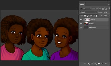Additional shadows added