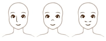 Emphasing different parts of the nose