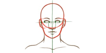 Example of face proportions