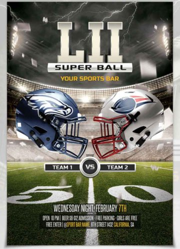 Super Bowl Party Flyer