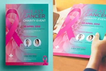 Breast Cancer Charity Flyer Template