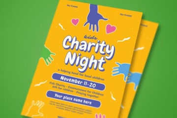 Kids Charity Night Event Flyer