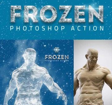 Frozen Ice Photoshop Actions