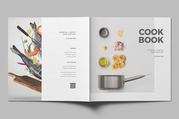 Square Cookbook InDesign Template