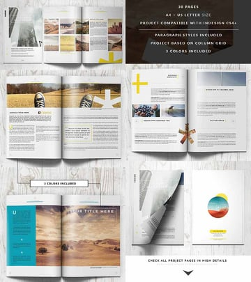 Clean InDesign Magazine Template