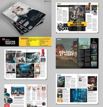A4 InDesign Letter Magazine Template