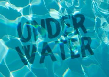 underwater text effect photoshop