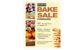Baking Fundraiser Flyer Template