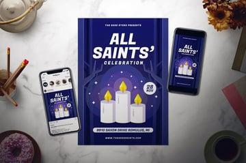 All Saints Day Flyer Set