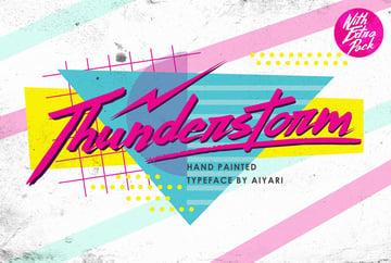 80s Inspired Design Typeface