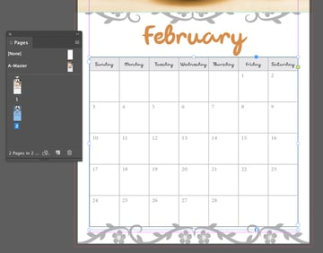 Editing the calendar