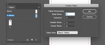 Creating a Table