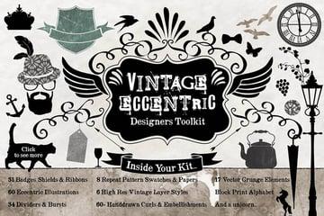 Vintage Design Scrapbooking Kit