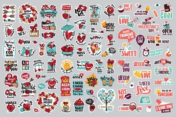 Love Digital Stickers