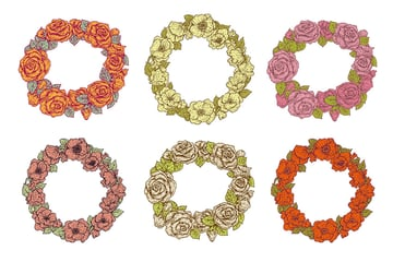 Floral Frames by Eugenia Hauss