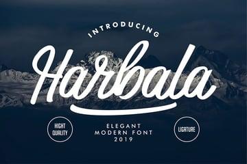 Harbala Modern Script Font