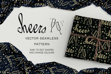 Cheers Seamless Pattern