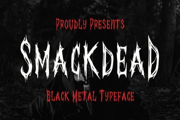 Smackdead Black Metal Typeface