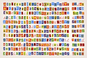Paper Cut Alphabet by moonery